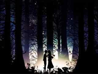 唯美夜色爱情动漫