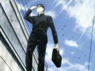 坂本君走在上学路上桌面壁纸