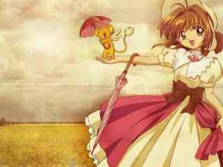《魔卡少女樱》小可与小樱桌面壁纸