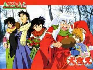 《犬夜叉》之快乐圣诞节桌面壁纸