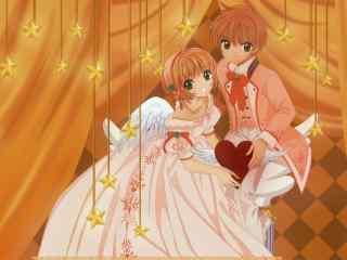 《魔卡少女樱》小樱与小狼婚礼图