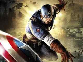 美国队长与盾牌高清壁纸