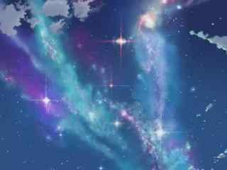 动漫《追逐繁星的孩子》唯美天空背景图片集
