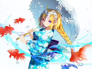 Fate/Grand Order和服贞德高清桌面壁纸下载