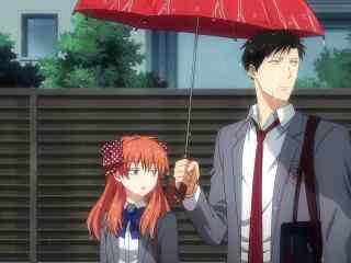 《月刊少女野崎君》之共撑一把伞的野崎与千代
