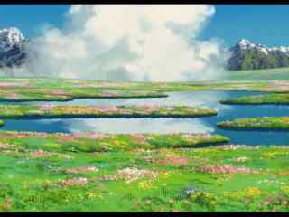 《哈尔的移动城堡》之唯美风景桌面壁纸