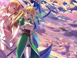 刀剑神域之莉法与亚丝娜桌面壁纸