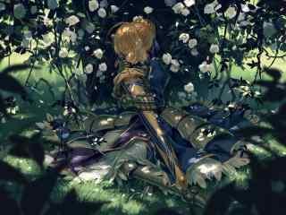 Fate动漫之Saber唯美桌面壁纸