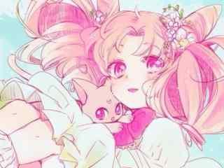 美少女战士之可爱小小兔桌面壁纸