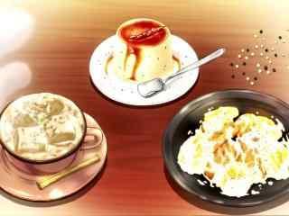 动漫美食图片食戟之灵二次元美食图片桌面壁纸9