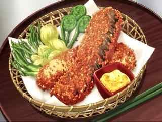 动漫美食图片食戟之灵二次元美食图片桌面壁纸2