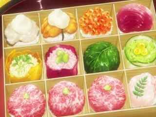 动漫美食图片食戟之灵二次元豪华寿司盒图片桌面壁纸