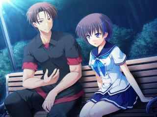 日本动漫情侣浪漫唯美图片桌面壁纸