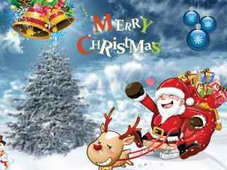 圣诞老人图片桌面壁纸