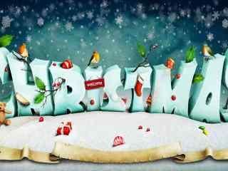 动漫图片圣诞节桌面壁纸