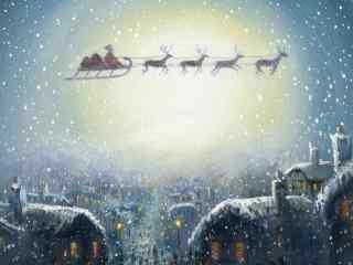 卡通圣诞老人图片桌面壁纸