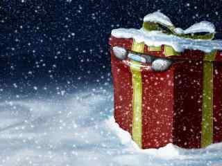 可爱的动漫圣诞礼物桌面壁纸