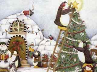 唯美动漫圣诞节图桌面壁纸