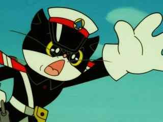 黑猫警长霸气怒吼桌面壁纸