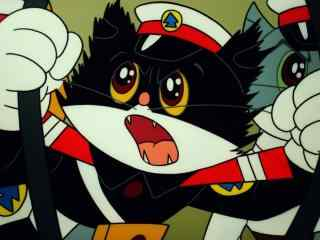 黑猫警长紧张破案高清图片桌面壁纸