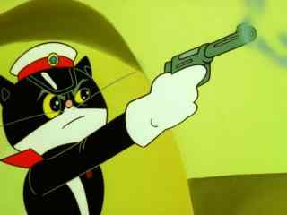 黑猫警长正能量图片桌面壁纸