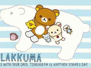 轻松熊和牛奶熊可爱桌面壁纸