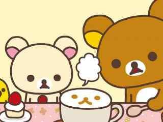 可爱轻松熊卡通桌面壁纸