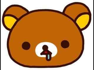 轻松熊可爱流口水桌面壁纸
