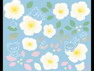 简约可爱的轻松熊桌面壁纸