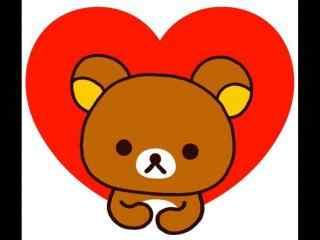 可爱卡通轻松熊爱心桌面壁纸