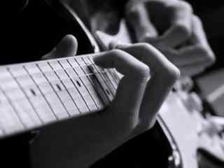 黑白创意加吉他桌
