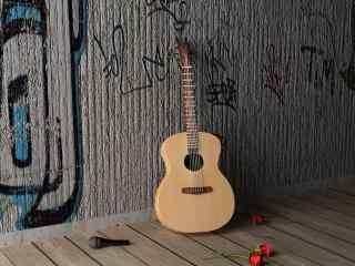 创意炫酷街头吉他