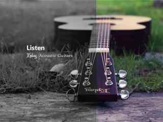 创意吉他两色相间