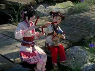 《少年锦衣卫》九公主与小孩吃糖葫芦图