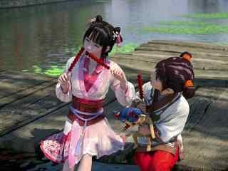 《少年锦衣卫》九公主与小孩吃糖葫芦剧照