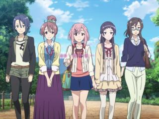 樱花任务可爱少女五人组桌面壁纸
