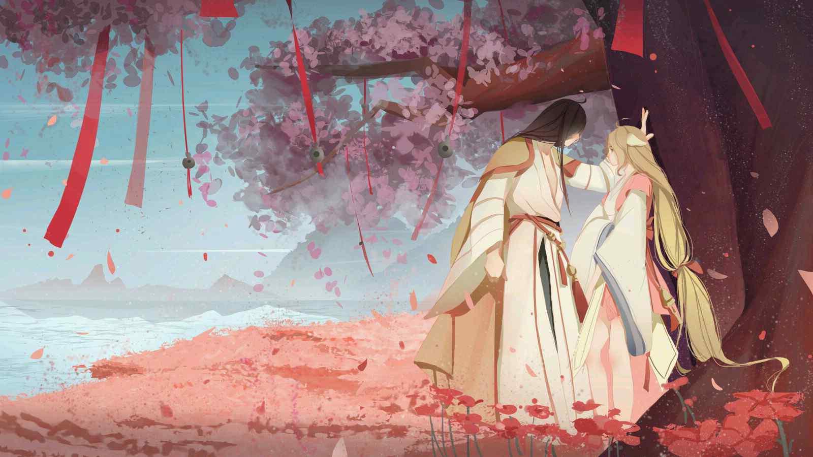 人妖恋_狐妖小红娘之涂山红红与东方月初唯美手绘同人图 -桌面天下 ...