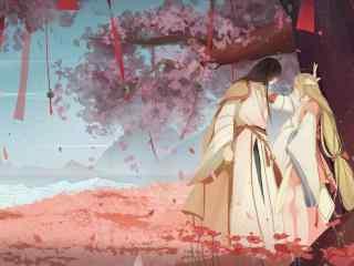 狐妖小红娘之涂山红红与东方月初唯美手绘同人图