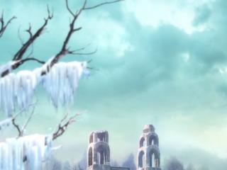 全职高手动漫场景之荣耀冰霜森林风景