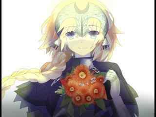 圣女贞德甜美笑容同人桌面壁纸