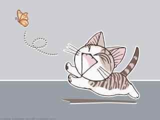 甜甜私房猫简约可爱的小起桌面壁纸