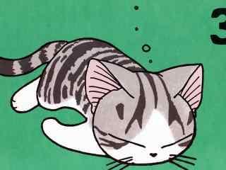 甜甜私房猫慵懒午睡的小起桌面壁纸