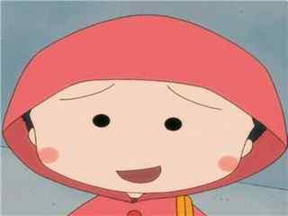 小丸子穿雨衣可爱头像