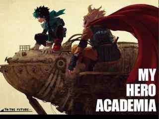 我的英雄学院绿谷出久欧尔麦特壁纸
