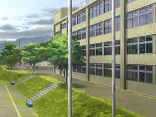 开学季之手绘小清新校园风景壁纸