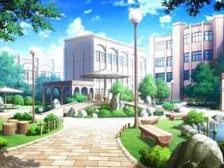开学季之清新校园风景图片壁纸