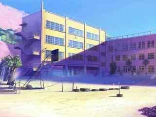 开学季之动漫校园唯美风景壁纸