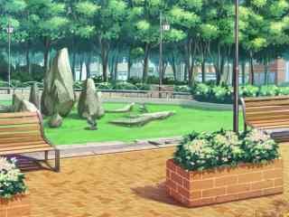 开学季之手绘青春校园风景壁纸