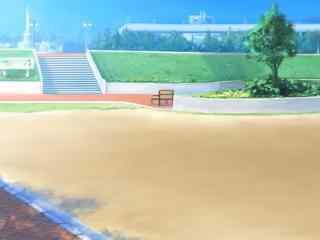开学季之手绘校园操场桌面壁纸