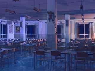 开学季之手绘校园夜景壁纸